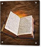 Liber Scientiae The Book Of Knowledge Acrylic Print