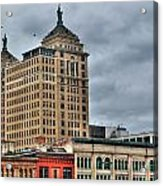 Liberty Building And Hotel Lafayette Acrylic Print
