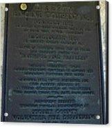 Liberty Engine Company Acrylic Print