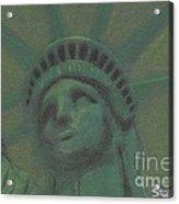 Liberty In Green Acrylic Print by Stephen Cheek II