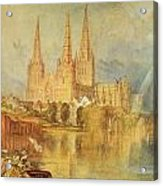 Lichfield Acrylic Print by Joseph Mallord William Turner