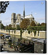 Life Along The River Seine Acrylic Print