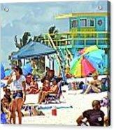 Life Is A Beach Acrylic Print by Dieter  Lesche