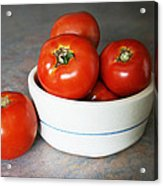 Life Is Not A Bowl Of Cherries - Life Is A Bowl Of Tomatoes Acrylic Print