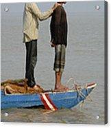 Life On Lake Tonle Sap 4 Acrylic Print