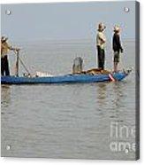 Life On Lake Tonle Sap 5 Acrylic Print