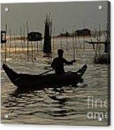 Life On Lake Tonle Sap 7 Acrylic Print