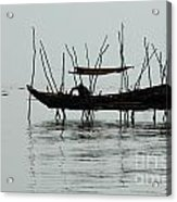 Life On Lake Tonle Sap  Acrylic Print