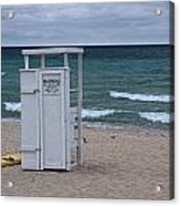 Lifeguard Station At The Beach Acrylic Print