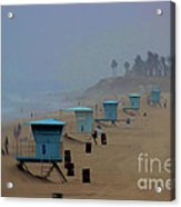 Lifeguard Stations Acrylic Print