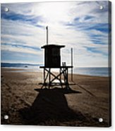 Lifeguard Tower Newport Beach California Acrylic Print by Paul Velgos