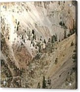 Light And Shadows In The Grand Canyon In Yellowstone Acrylic Print