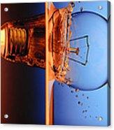 Light Bulb Shot Into Water Acrylic Print