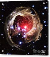 Light Echoes From Exploding Star Acrylic Print