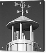 Light House On Coney Island In Black And White  Acrylic Print