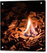 Light Of Fire Creates Coziness ... Acrylic Print