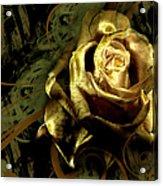 Light Painted Rose Acrylic Print