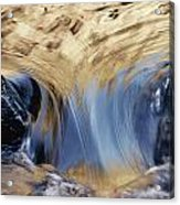 Light Reflected On Water Flowing Acrylic Print