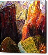 Light Through The Canyon Acrylic Print