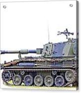 Light Weight Battle Tank Acrylic Print