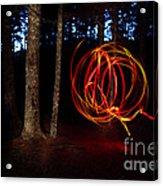 Light Writing In Woods Acrylic Print