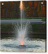Lighted Fountain Acrylic Print