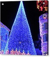 Lighted Xmas Tree Walt Disney World Acrylic Print