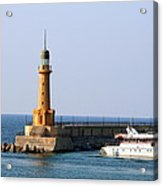 Lighthouse Along The Corniche Acrylic Print