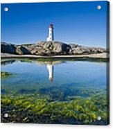 Lighthouse And Tide Pool Acrylic Print