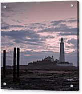 Lighthouse At Low Tide II Acrylic Print