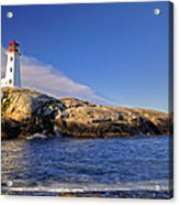 Lighthouse At Peggy's Cove Acrylic Print