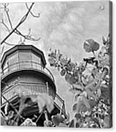 Lighthouse B And W Acrylic Print