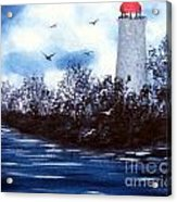 Lighthouse Blues Painterly Style Acrylic Print