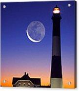 Lighthouse Crescent Moon Acrylic Print