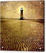 Lighthouse Grunge Acrylic Print