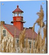 Lighthouse In Wheat Field Acrylic Print