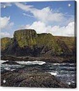 Lighthouse On Coastal Cliff Acrylic Print