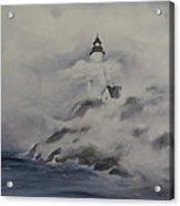 Lighthouse On Foggy Coast Acrylic Print