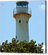 Lighthouse On Grand Turk 2 Acrylic Print