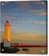 Lighthouse, Sylvan Lake, Alberta, Canada Acrylic Print