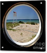 Lighthouse Window To Lake Acrylic Print