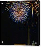 Lighting Up The National Mall Acrylic Print