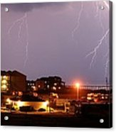 Lightning At Outer Banks Acrylic Print