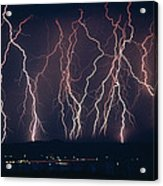 Lightning Near Barstow, California Acrylic Print