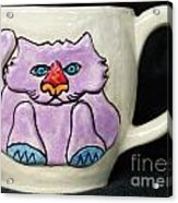 Lightning Nose Kitty Mug Acrylic Print