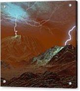 Lightning On Venus, Artwork Acrylic Print
