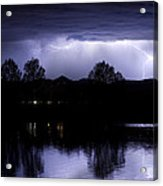 Lightning Over Coot Lake Acrylic Print