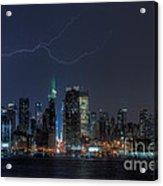 Lightning Over New York City Ix Acrylic Print
