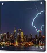 Lightning Over New York City Vii Acrylic Print