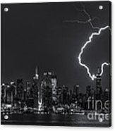 Lightning Over New York City Viii Acrylic Print